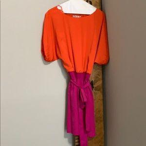 Orange and pink dress